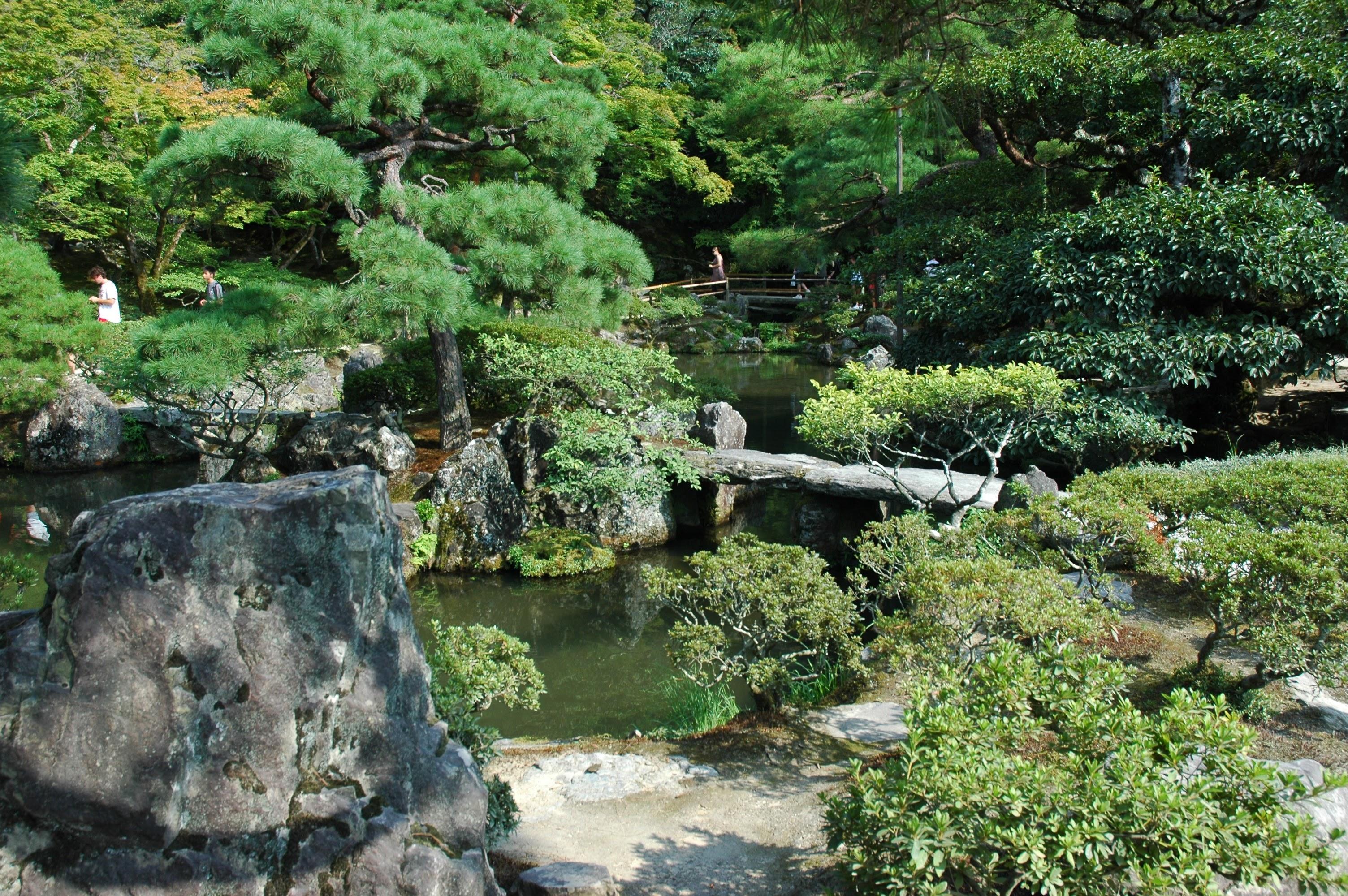 Silver temple garden