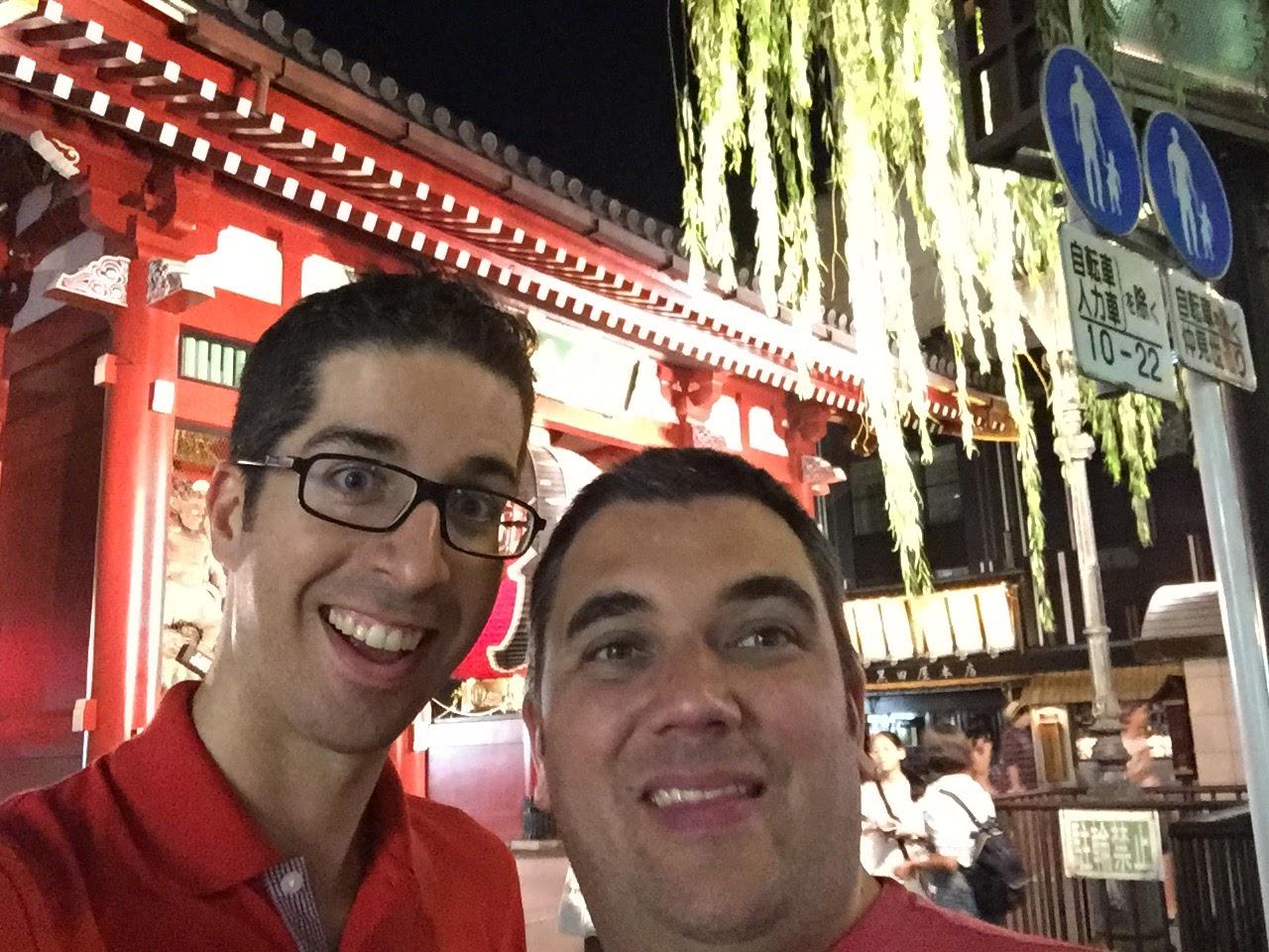 First night around Asakusa