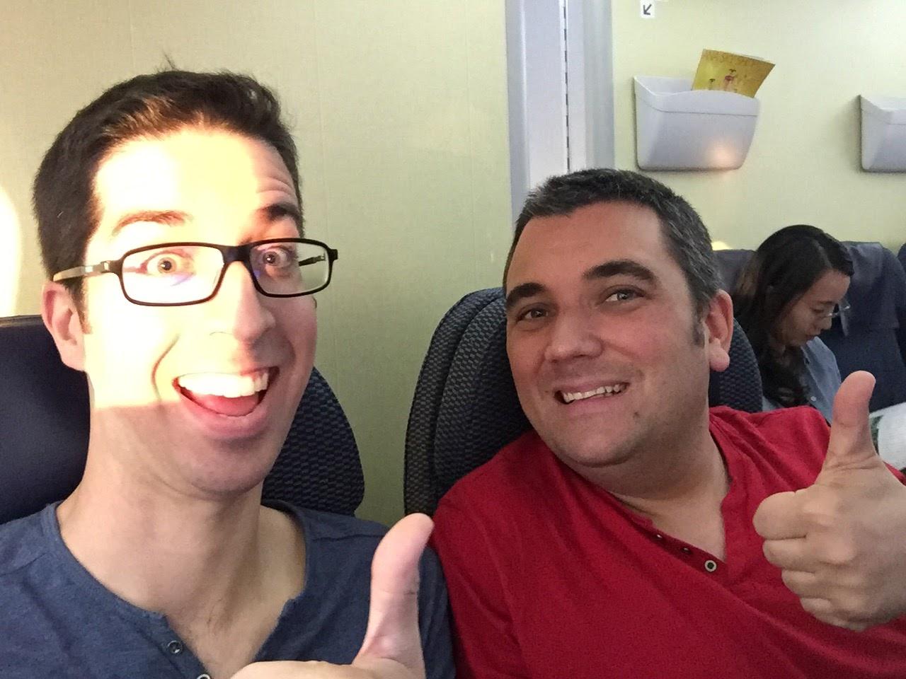 Inside ANA's plane