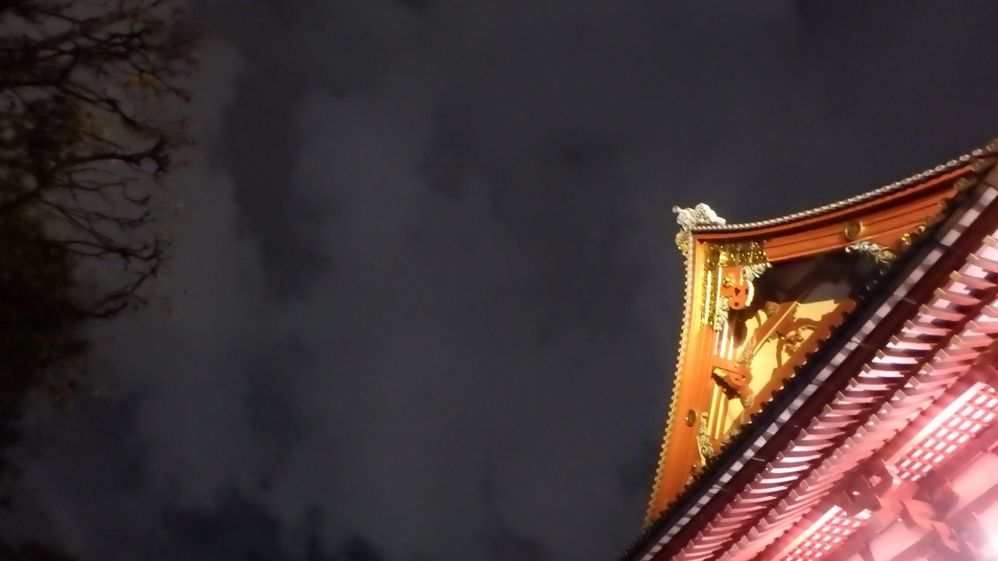 Asakusa temple by night