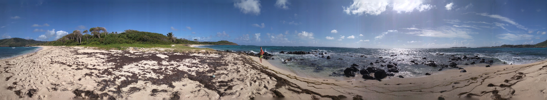 Panoramique de la plage du Cap Macré
