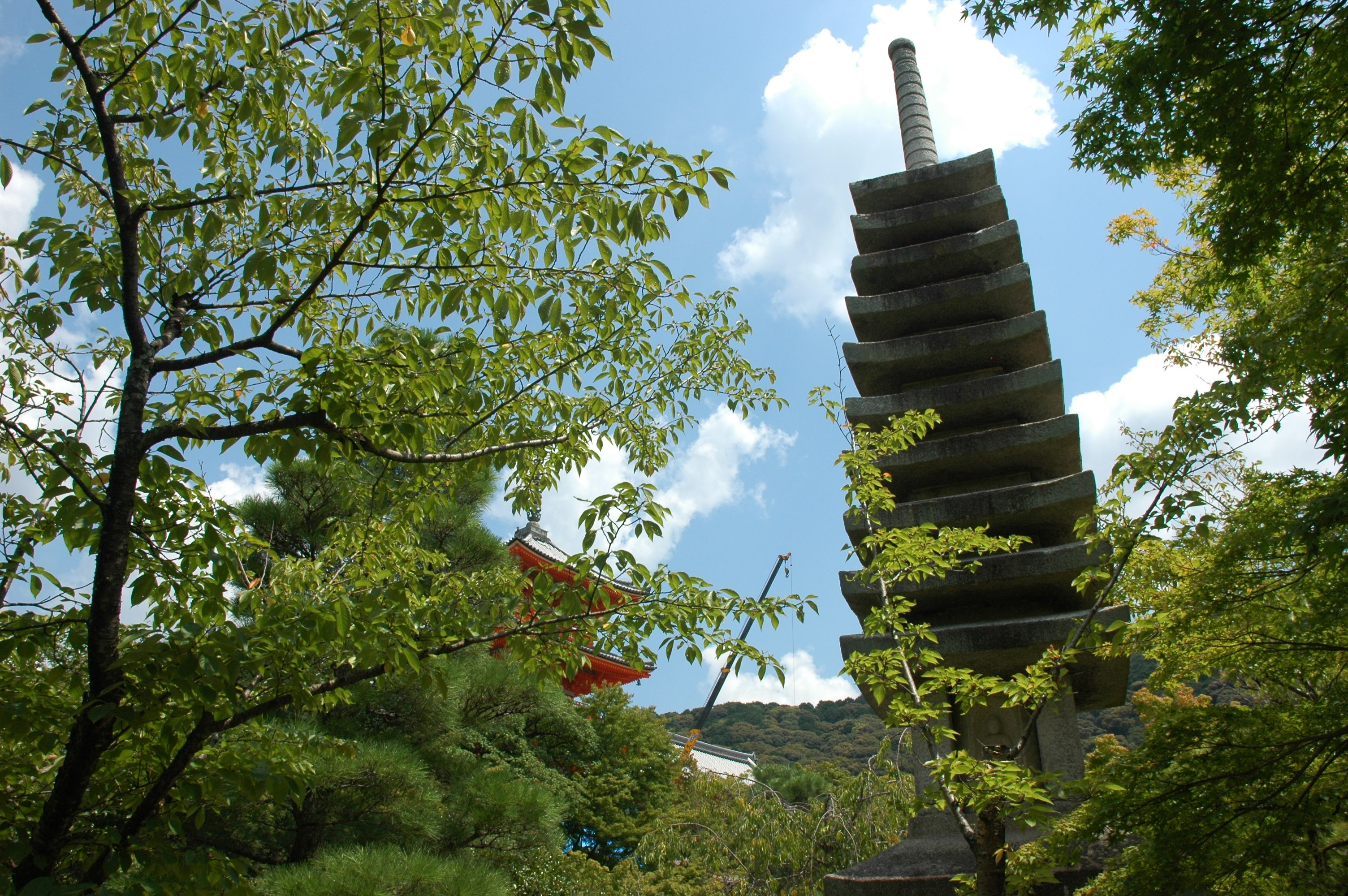 Old and new pagoda