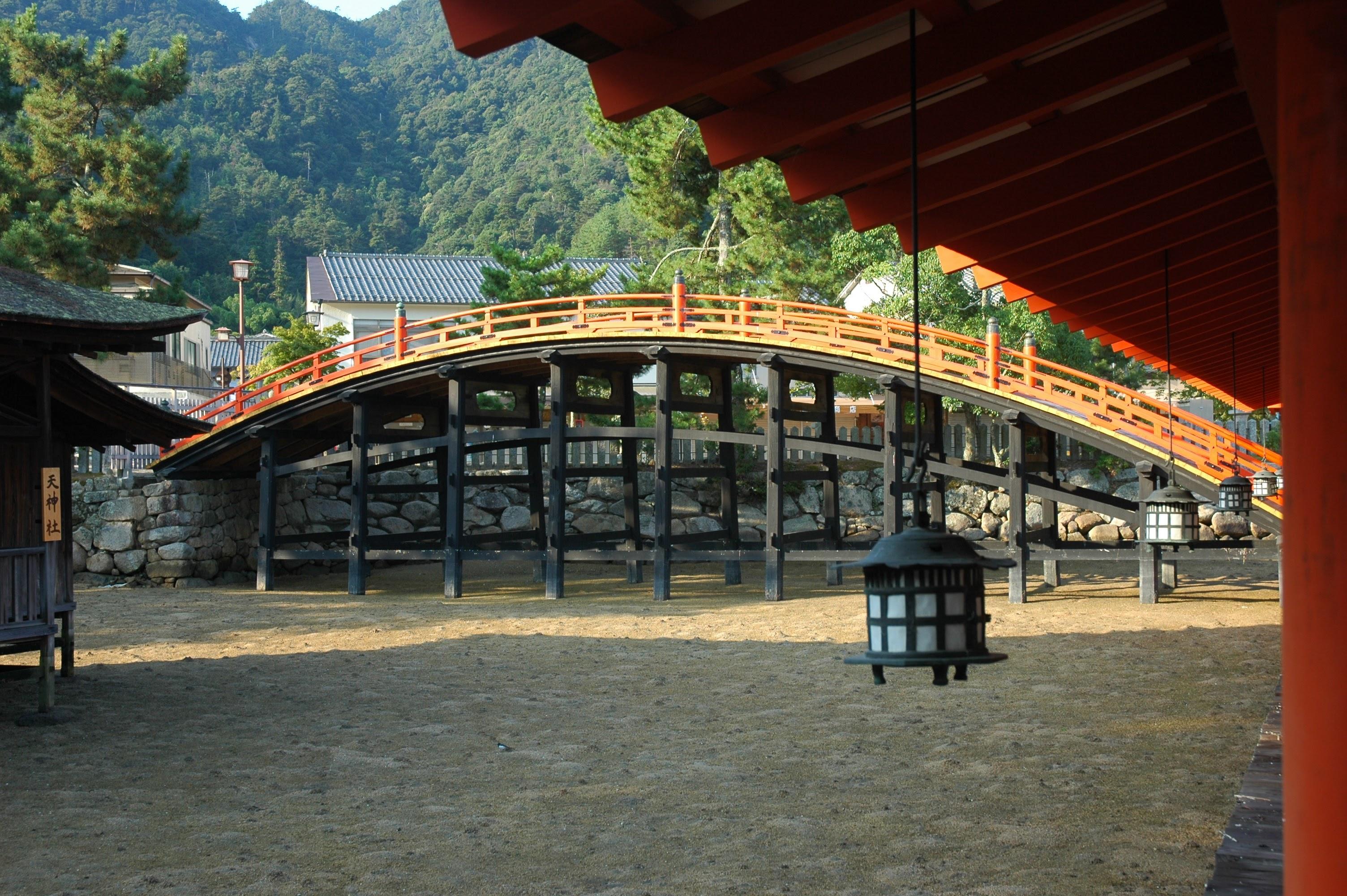 Miyajima shrine sancted bridge