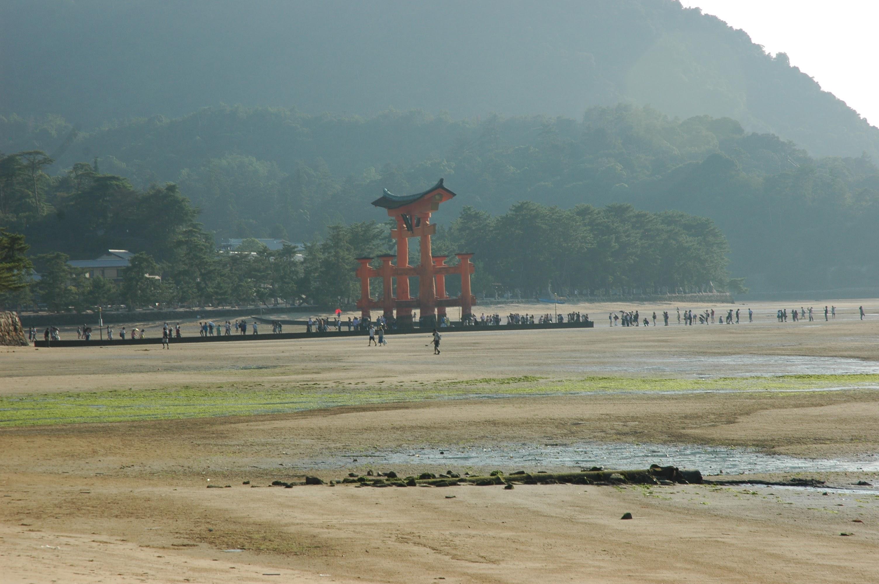 Torii at low tide