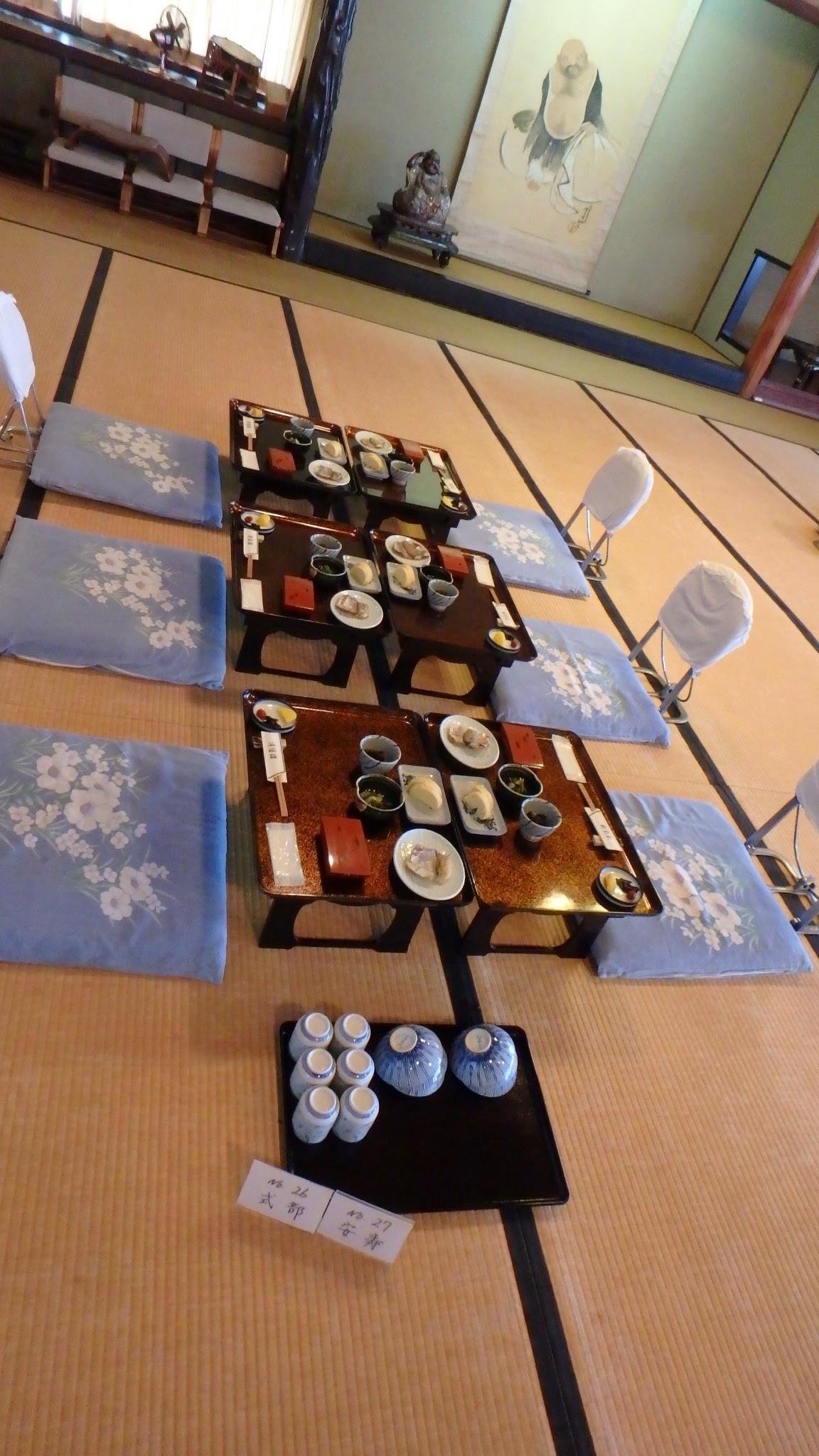 Breakfast at Miyazu ryokan